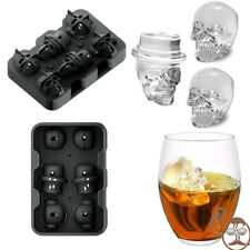 3Pcs//set Skull Ice Molds Cocktails Whisky Cube Tray Mould Halloween Party