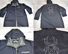 Mens SPYDER PRO GEAR Rain Shell Coat Jacket Black Nylon Size L / XL
