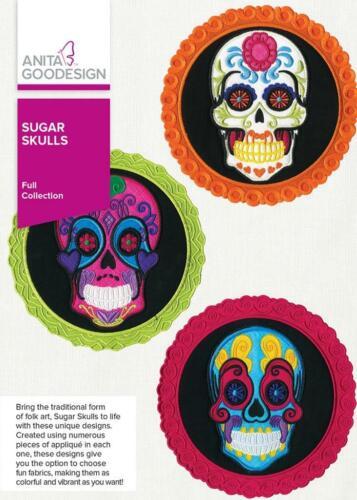 Sugar Skulls Anita Goodesign Embroidery Design Machine CD