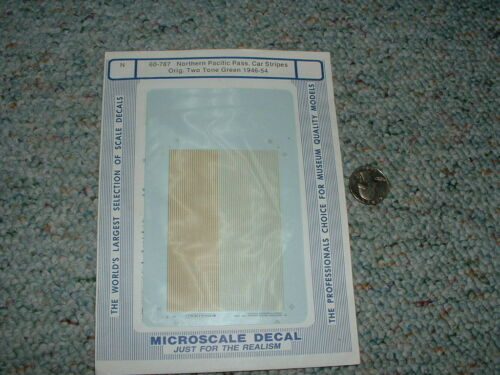 Microscale decals N 60-787 Northern Pacific Pass. car stripes orig two tone  A82