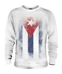 CUBA-FADED-FLAG-UNISEX-SWEATER-TOP-CUBAN-SHIRT-FOOTBALL-JERSEY-GIFT