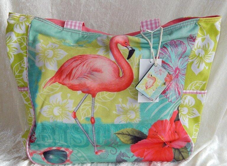 PE FLORENCE Shopper Strandtasche Badetasche Flamingo  NEU NEU NEU 9559 | Online-Shop  | Am praktischsten  | Verwendet in der Haltbarkeit  66f810