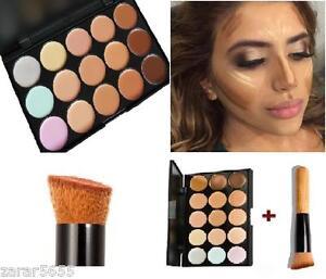 15 colors Concealer palette with brush face cream makeup kit contour  1 - borehamwood, Hertfordshire, United Kingdom - Returns accepted - borehamwood, Hertfordshire, United Kingdom