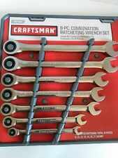 Craftsman 8 Pc Combination Ratcheting Wrench Set Metric 22985