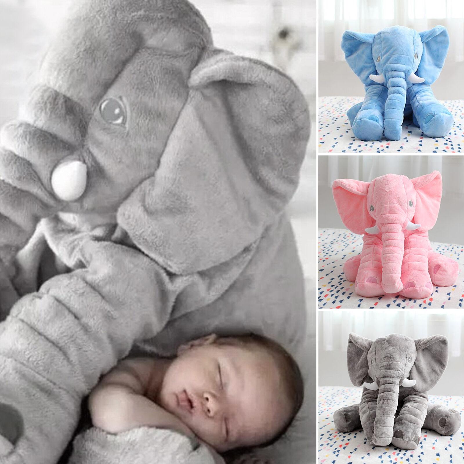 Kuschelkissen Kinderzimmer Kinder Elefantenkissen Tierkissen 38x32 cm Neu