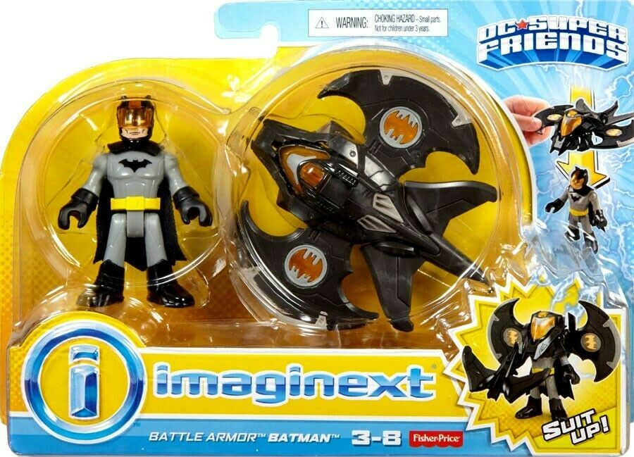 Imaginext BUNDLE          DC Super Friends Battle Armor Batman - Free Shipping
