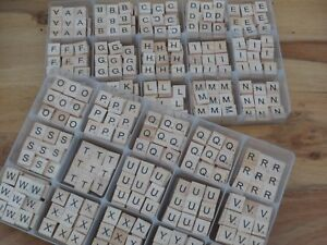 wooden scrabble individual tile letters alphabet craft wholesale