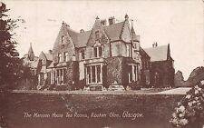 GLASGOW SCOTLAND UK ROUKEN GLEN MANSION HOUSE TEA ROOMS REB SERIES POSTCARD 1919