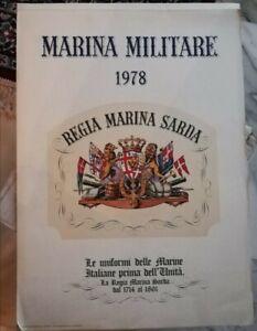 Calendario 1978.Details About Calendar Navy 1978 Regia Marina Sarda Uniform Before Unit Show Original Title