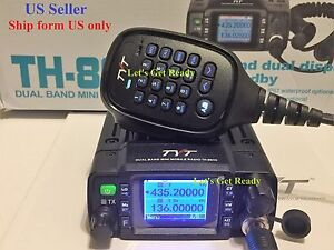 TYT-TH8600-waterproof-Dual-Band-25W-Mobile-Radio-Free-cable-software-US-Seller