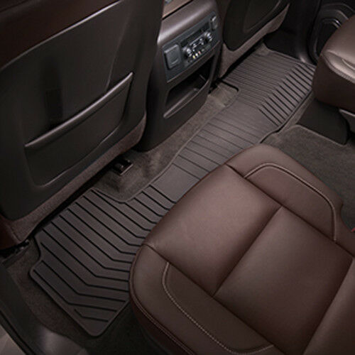 2015-2019 Yukon XL  Front /& 2nd /& 3rd Row /& Cargo All Weather Floor Mats Cocoa
