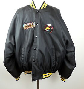 HARTWELL-Mens-XXL-NASCAR-Jacket-Rusty-Wallace-2-Racing-Miller-Made-In-USA-FLAW