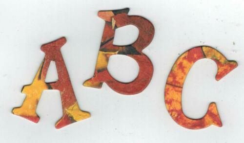"/""Fall Leaves/"" Chipboard Letters Plus Extra Fun Serif"