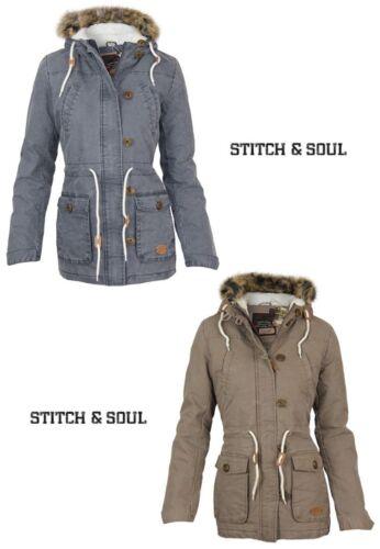 Soul d'hiver Stitch Jacket Parka Damen 1aXw18q