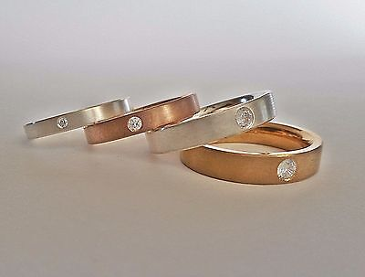 14k Gold Geometric Wedding Bands  Ring 2mm 3mm For Women/'s Men/'s Gold Ring Promise Married Faceted set for couples 14 carat gold ring