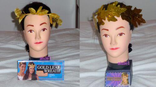 ROMAN GREEK GOLD LEAF LAUREL HEAD WREATH HEAD BAND TOGA GOD GODDESS FANCY DRESS