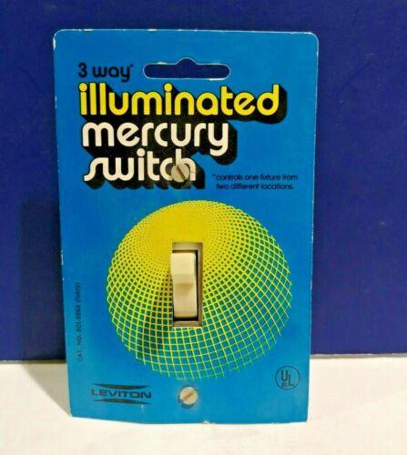 Leviton IVORY Single Gang Three Way Mercury Toggle Light Switch 801-5563 NEW WOW