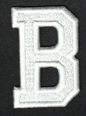 "Letters-White Letter /""D/"" Embroidery Iron On Applique Patch"