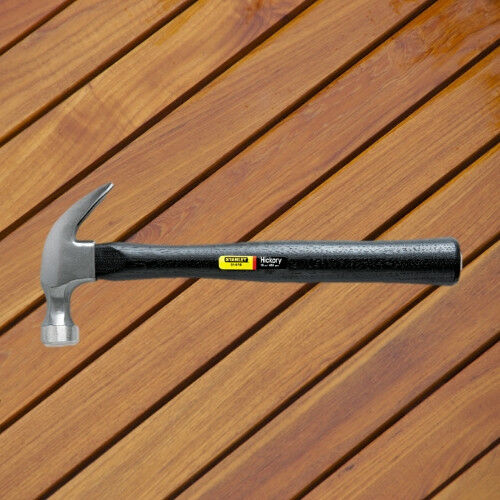 Stanley Tools Curved Claw Nail Hammer 16oz Hickory Handle High-Carbon Steel Head