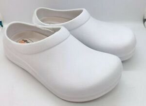 Safe-T-Step-White-Clogs-Comfort-Shoes-Women-s-US-oil-amp-Slip-Resistant