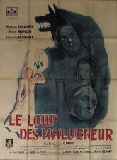 LE LOUP DE MALVENEUR affiche film 120x160 cm LECHANTRE (ressortie 1946)