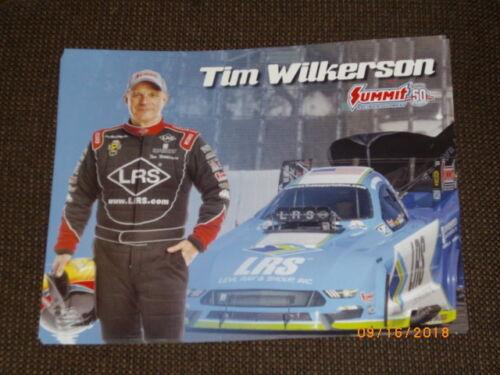 2018 TIM WILKERSON LRS INC FORD FUNNY CAR NHRA POSTCARD