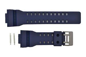 Rubber-Watch-band-Strap-for-Casio-G-Shock-GA-110-GA-120-GA-200-Blue-Genuine