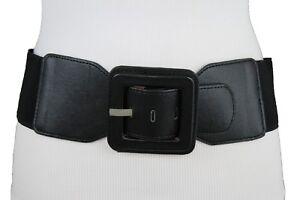 Women Wide Cream Faux Leather Waistband Fashion Tie Belt Hip High Waist M L XL