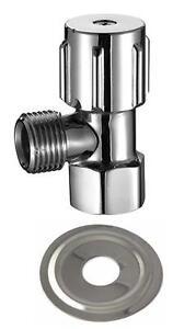 1xMini-Toilet-Cistern-Cock-Tap-Chrome-std-amp-not-1-4-quarter-turn-1xCoverPlate