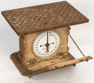 Antique-JARASO-Person-0-125kg-Weighing-Scales-Mirrored-Dial-Edwardian-Cast-Iron