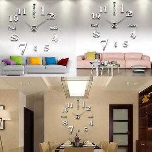 Das Bild Wird Geladen Wanduhr Designer Wand Deko Uhr Spiegel Wandtattoo XXL