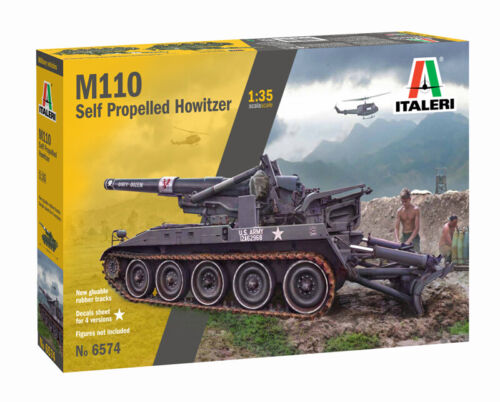 Italeri 6574-1//35 M110 Self Propelled Howitzer Neu