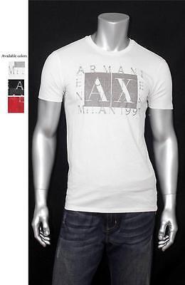New Armani Exchange AX Mens Muscle Slim Fit Box Logo Tee Shirt 0t6x737