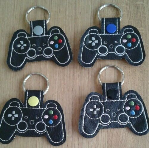Embroidered PlayStation Controller Key Fob