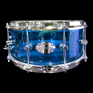 CHAOS-ILLUSION-ACRYLIC-SNARE-DRUM-14-039-039-x-5-5-039-039-BLUE