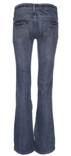 Womens Mid Rise Bootcut Jeans Ladies Stretch Denim Pant Trouser Bottom Size 8-14