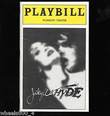 Broadway Playbill JEKYLL & HYDE August 1999 Plymouth Threatre Excellent