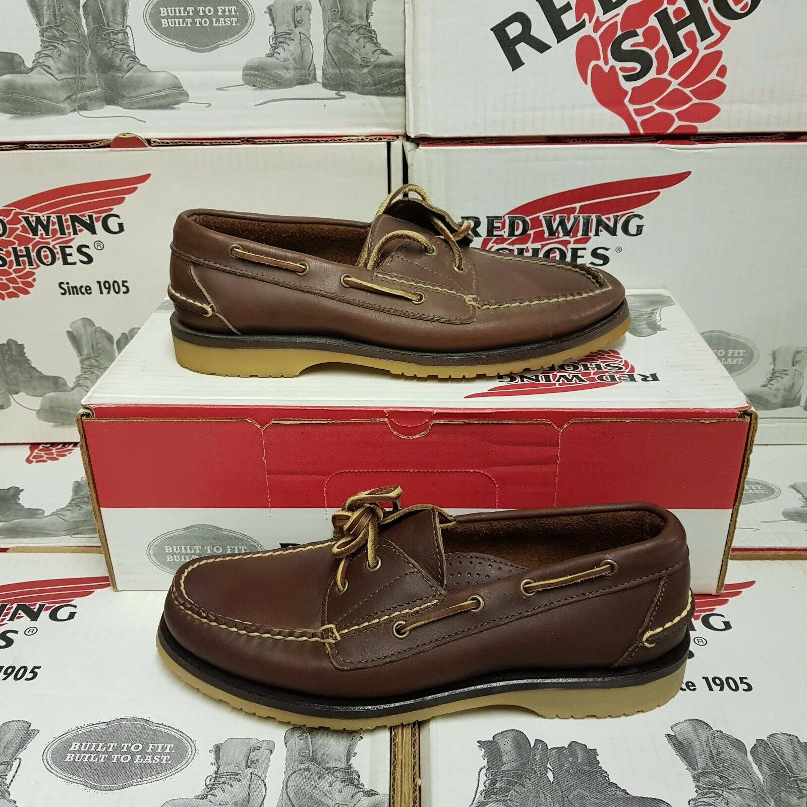 RED WING SHOES 9172 men's leather loafer boat US 7,5 (pv:)