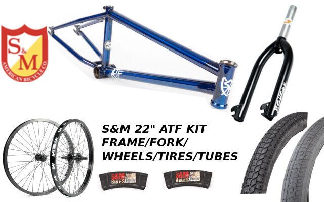 S&m 55.9cm ATF marco 22.125 trans azul 22  set neumáticos horquillas Faction