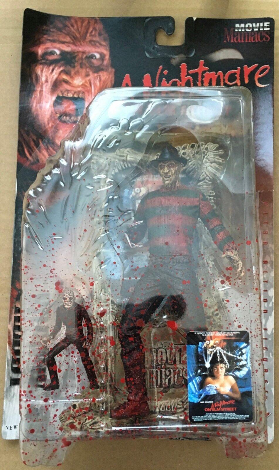 Movie Maniacs Freddy Krueger A Nightmare On Elm Street Action Figure Bloody1998