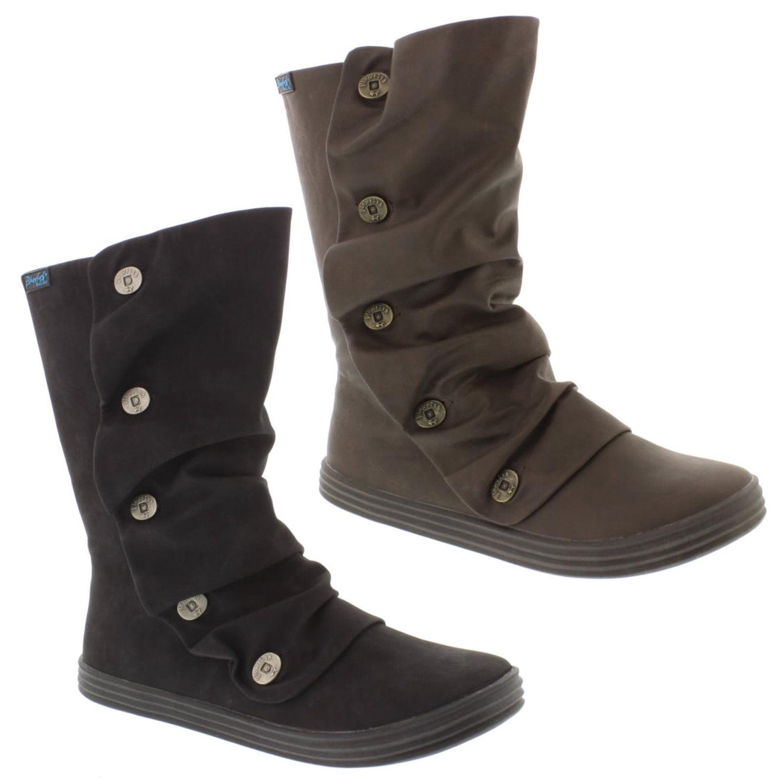 Blowfish Malibu Rammish Stiefel Damenschuhe Tall Button Detail Winter Schuhes Flats