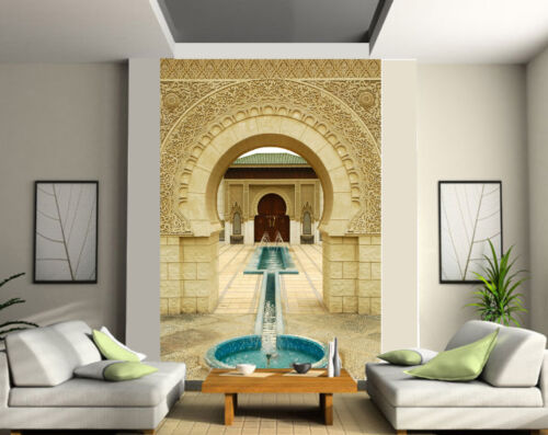 tapestry wall deco oriental fountain ref 123 Giant wallpaper 2 roll form
