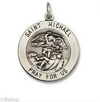 Small 925 Sterling Silver Saint St. St Michael Police Vintage Charm Pendant