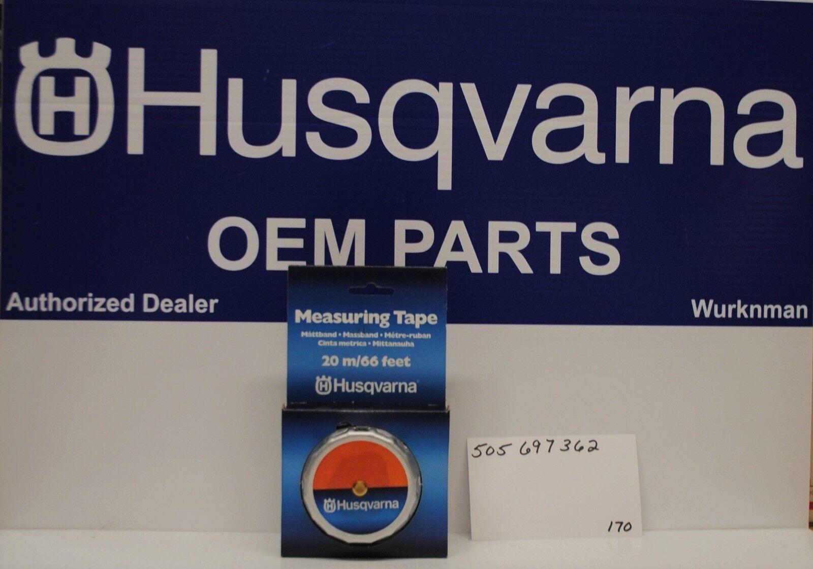 Genuine OEM 505697362 Husqvarna Loggers cinta métrica 20 metros 66 pies