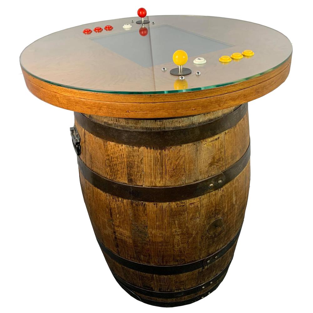 Original Oak Whiskey Barrel Arcade Machine | 60 Arcade Games