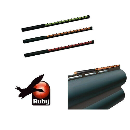 Ruby Sport Shooting Bead Fibre Optic Shotgun Foresight Game & Clay Sight
