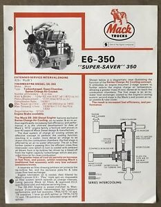 1981-Mack-Thermodyne-Diesel-E6-350-Engine-original-Australian-sales-brochure