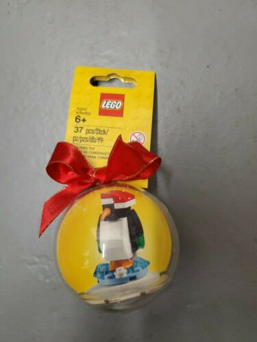 Lego Christmas Holiday Ornament Bauble Penguin 853796 New Rare Retired