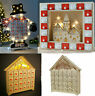Pre-Lit White Wooden Village Scene Advent Calendar Christmas Decoration Kids
