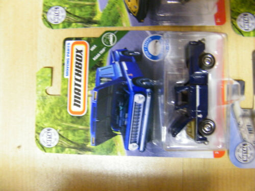 Matchbox 2018 moving parts serie ola 1963 Chevy c10 pickup truck azul